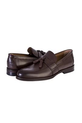 Erkek Giyim - KAHVE 40 Beden Püsküllü Klasik Deri Ayakkabı