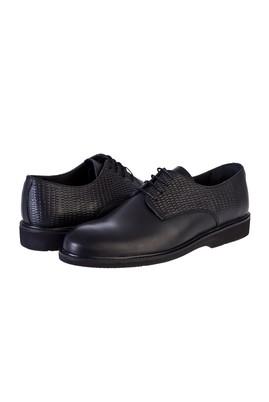Erkek Giyim - SİYAH 45 Beden Bağcıklı Klasik Ayakkabı