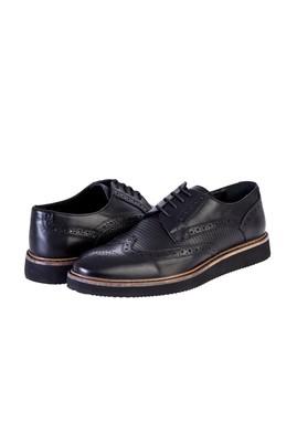 Erkek Giyim - SİYAH 41 Beden Bağcıklı Casual Ayakkabı