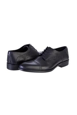 Erkek Giyim - SİYAH 41 Beden Bağcıklı Klasik Ayakkabı