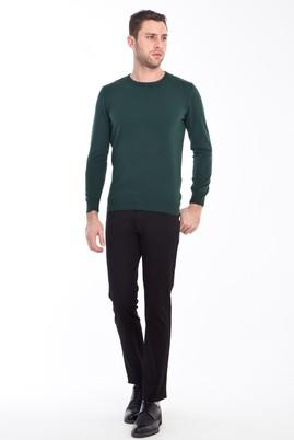 Erkek Giyim - SİYAH 48 Beden Slim Fit Spor Kuşgözü Pantolon
