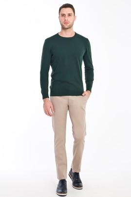Erkek Giyim - BEJ 50 Beden Slim Fit Spor Kuşgözü Pantolon