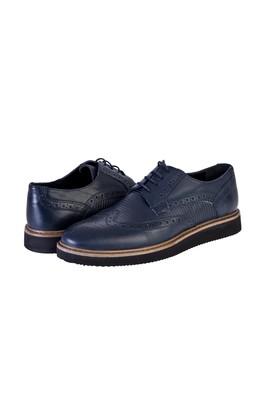Erkek Giyim - LACİVERT 42 Beden Bağcıklı Casual Ayakkabı