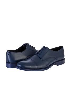 Erkek Giyim - LACİVERT 41 Beden Bağcıklı Klasik Ayakkabı