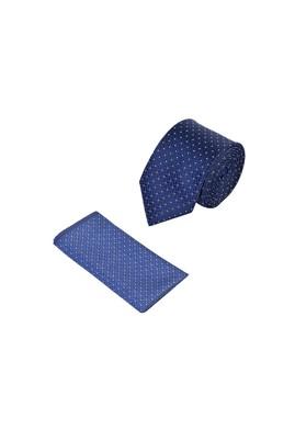 Erkek Giyim - LACİVERT 165 Beden 2'li Kravat Mendil Set