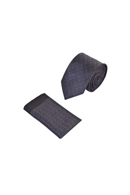 Erkek Giyim - SİYAH 165 Beden 2'li Kravat Mendil Set