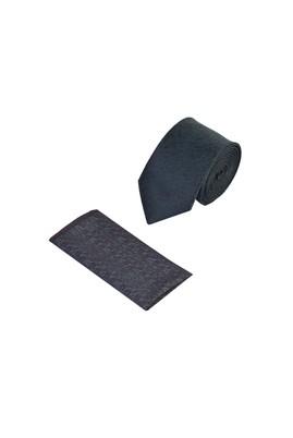 Erkek Giyim - KOYU YESİL 165 Beden 2'li Kravat Mendil Set
