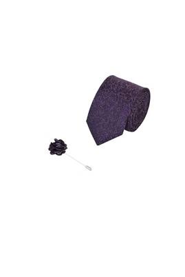 Erkek Giyim - MOR 165 Beden 2'li Kravat Yaka İğnesi Set