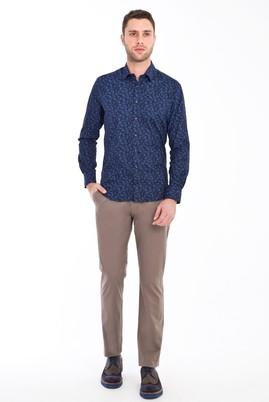 Erkek Giyim - VİZON 50 Beden Spor Saten Pantolon