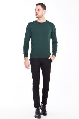 Erkek Giyim - SİYAH 50 Beden Slim Fit Spor Kuşgözü Pantolon
