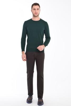 Erkek Giyim - KOYU YESİL 54 Beden Spor Kuşgözü Pantolon