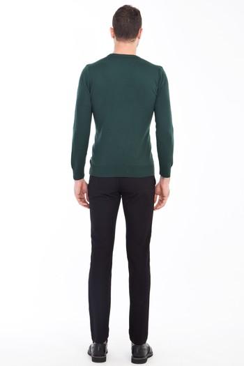 Erkek Giyim - Slim Fit Spor Kuşgözü Pantolon