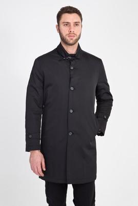 Erkek Giyim - Siyah 56 Beden Klasik Pardösü