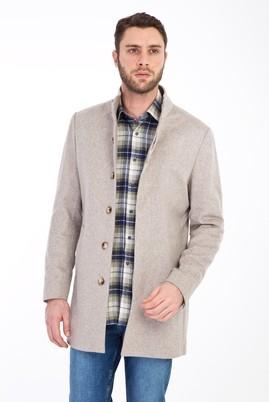 Erkek Giyim - KUM 58 Beden Slim Fit Yünlü Kaban