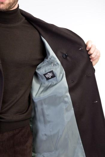 Erkek Giyim - Yünlü Kaşe Kaban