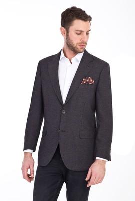 Erkek Giyim - KOYU KAHVE 54 Beden Klasik Desenli Ceket