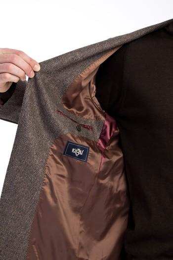 Erkek Giyim - Klasik Yünlü Kuşgözü Ceket