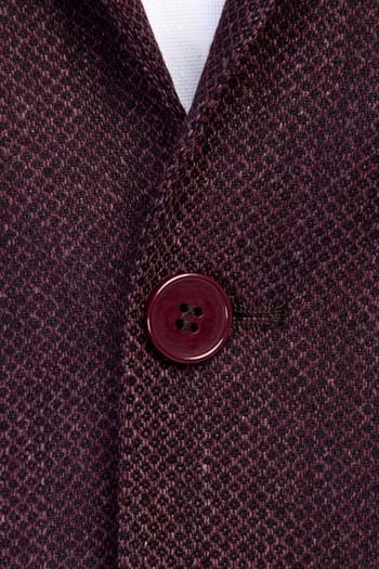 Erkek Giyim - Yünlü Klasik Kuşgözü Ceket