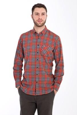 Erkek Giyim - TURUNCU 4X Beden Uzun Kol Oduncu Gömlek