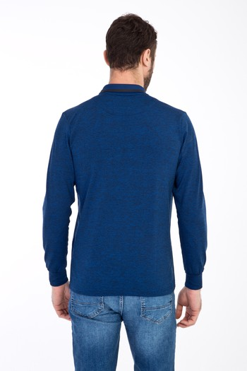Polo Yaka Fermuarlı Slim Fit Sweatshirt