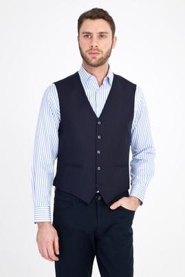 Erkek Giyim - KOYU LACİVERT 46 Beden Klasik Yelek