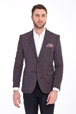 Erkek Giyim - MOR 50 Beden Slim Fit Desenli Ceket