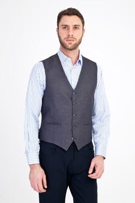 Erkek Giyim - KOYU ANTRASİT 50 Beden Klasik Yelek