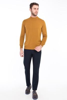 Erkek Giyim - LACİVERT 50 Beden Desenli Spor Pantolon