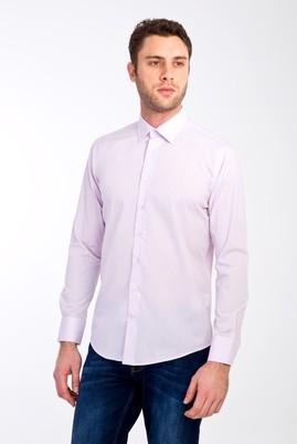 Erkek Giyim - LİLA S Beden Uzun Kol Spor Slim Fit Gömlek