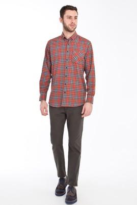 Erkek Giyim - KOYU YESİL 48 Beden Slim Fit Spor Pantolon