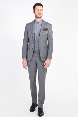Erkek Giyim - ORTA FÜME 50 Beden Klasik Takım Elbise
