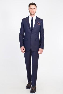 Erkek Giyim - KOYU LACİVERT LOT1 50 Beden Yünlü Klasik Takım Elbise