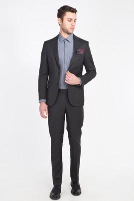 Erkek Giyim - ANTRASİT 52 Beden Klasik Takım Elbise