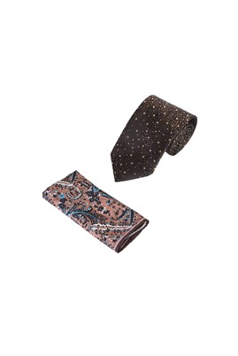 Erkek Giyim - KUM  Beden 2'li Kravat Mendil Set