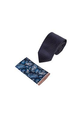 Erkek Giyim - KAHVE 165 Beden 2'li Kravat Mendil Set