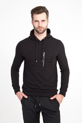 Erkek Giyim - ANTRASİT XXL Beden Kapüşonlu Slim Fit Sweatshirt