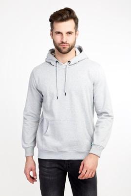 Erkek Giyim - ORTA FÜME M Beden Kapüşonlu Cepli Sweatshirt