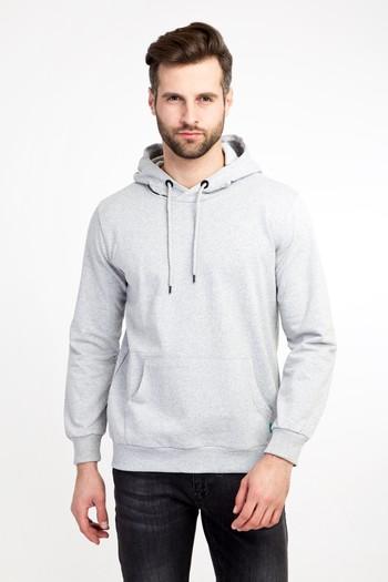 Erkek Giyim - Kapüşonlu Cepli Sweatshirt