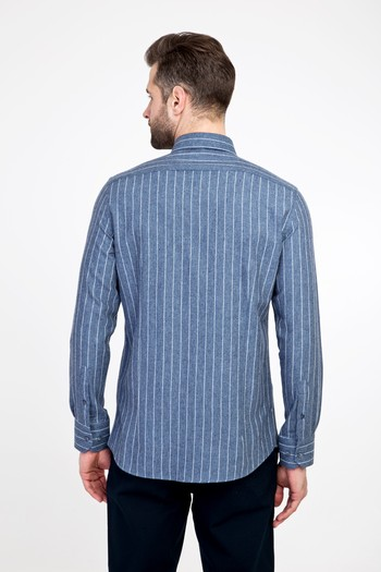 Erkek Giyim - Uzun Kol Oduncu Slim Fit Gömlek