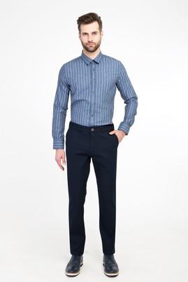 Erkek Giyim - LACİVERT 50 Beden Spor Desenli Pantolon
