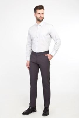Erkek Giyim - FÜME GRİ 46 Beden Slim Fit Spor Kuşgözü Pantolon