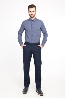 Erkek Giyim - LACİVERT 48 Beden Spor Kuşgözü Pantolon