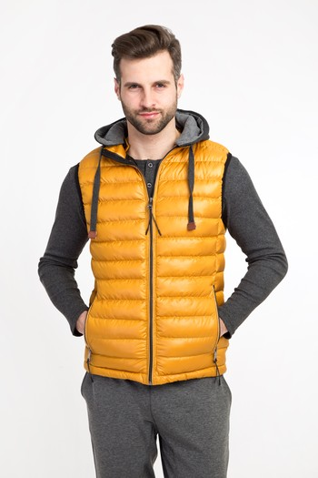 Erkek Giyim - Spor Bonded Yelek