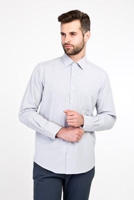 Erkek Giyim - SARI XL Beden Uzun Kol Desenli Klasik Gömlek