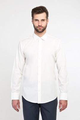Erkek Giyim - KREM XS Beden Uzun Kol Slim Fit Gömlek