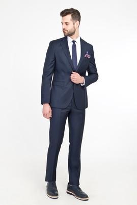 Erkek Giyim - KOYU MAVİ 46 Beden Süper Slim Fit Takım Elbise