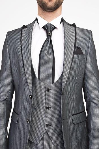 Erkek Giyim - Yelekli Smokin / Damatlık