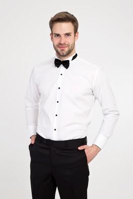 Erkek Giyim - BEYAZ XL Beden Ata Yaka Slim Fit Gömlek
