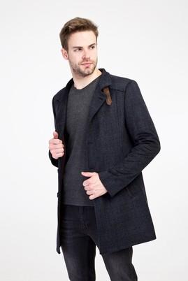 Erkek Giyim - ORTA FÜME XL Beden Yünlü Kaban