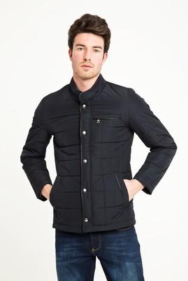Erkek Giyim - KOYU LACİVERT L Beden Slim Fit Kapitone Mont